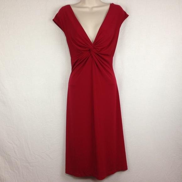 a64339f2e80 Dress Barn Dresses   Skirts - DressBarn Womens Red Sleeveless Dress Stretch